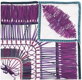 Longchamp Tassel Pattern Scarf