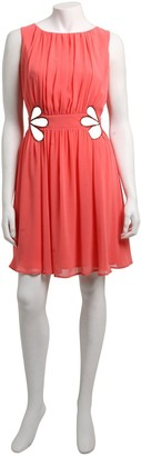 Little Mistress Coral Jewel Cut Out Detail Dress