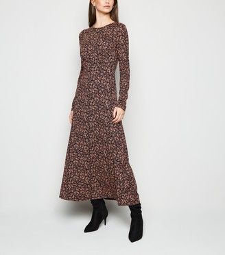 New Look Tall Floral Long Sleeve Midi Dress