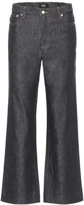A.P.C. Sailor cropped high-rise straight jeans