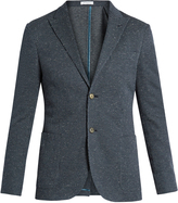 Boglioli Flecked cotton-jersey blazer