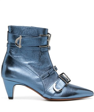 ALEXACHUNG Multi-Buckle Ankle Boots