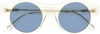 Monocle Eyewear Transparent Frame Round Sunglasses