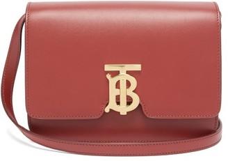 Burberry Tb Monogram Small Leather Cross-body Bag - Womens - Burgundy