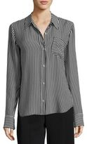 A.L.C. Scott Striped Silk Top