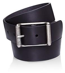 Frye Men's Center Bar Roller Buckle Leather Belt