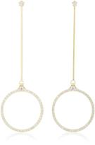 Ila Saxon 14K Gold And Diamond Earrings