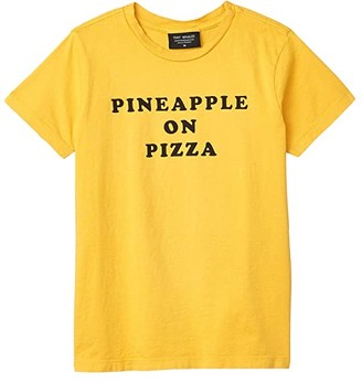 Tiny Whales Pineapple On Pizza T-Shirt (Toddler/Little Kids/Big Kids) (Vintage Gold) Boy's Clothing