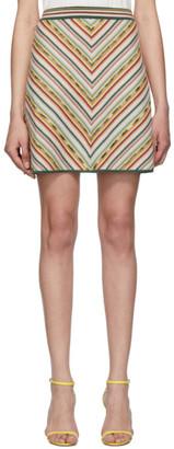 Missoni Multicolor Knit Rainbow Miniskirt