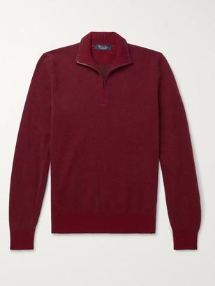 Loro Piana Roadster Slim-Fit Striped Cashmere Half-Zip Sweater - Men - Red