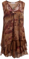 Pretty Angel Women's Tunics Brown - Brown Silk-Blend Camisole & V-Neck Linen-Blend Sleeveless Slip - Women