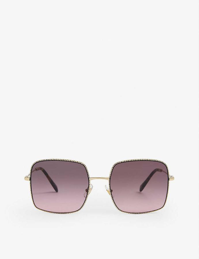 Miu Miu MU61VS square-frame metal sunglasses