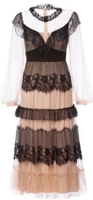 Nissa Lace Applique Dress