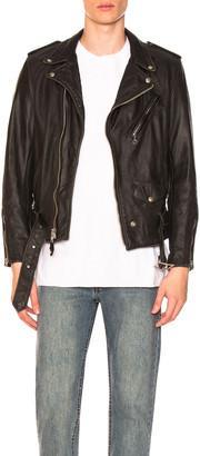 Schott Vintage Fit Moto Jacket in Black | FWRD