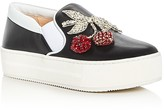 No.21 No. 21 Crystal Cherry Embellished Slip-On Platform Sneakers