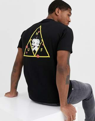 HUF x Betty Boop Triple Triangle t-shirt in black