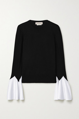 Alexander McQueen Two-tone Wool Sweater - Black
