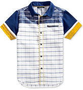 Sean John Off the Grid Woven Cotton Shirt, Big Boys (8-20)