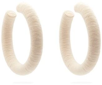 Rebecca De Ravenel Cord Hoop Earrings - Womens - White