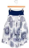 Junior Gaultier Girls' Printed High-Low Skirt w/ Tags