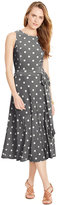 Lauren Ralph Lauren Polka-Dot-Print Crewneck Dress
