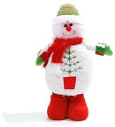 Snowman Plush Dolls Toys with LED Lighted Christmas Decoration Kids Christmas Dolls