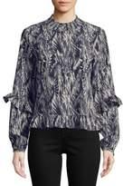 Vero Moda Printed Ruffle Blouse
