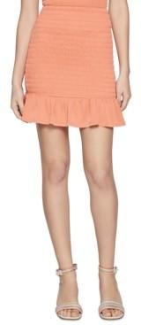 BCBGeneration Smocked Flounce Mini Skirt