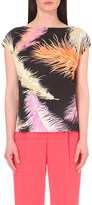 Emilio Pucci Feather-print jersey top