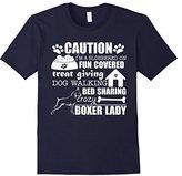 Kids Boxer Shirt I'm A Crazy Boxer Lady Dog Lover T-Shirt 10