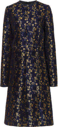 Marni Metallic Floral-Jacquard Dress