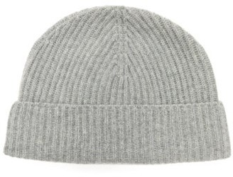 Johnstons of Elgin Johnston's Of Elgin - Ribbed Cashmere Beanie - Grey