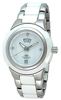Mother of Pearl Oniss Paris Women's ON435-L/WT Analog High-Tech Ceramic Case Mother-Of-Pearl Dial Swiss-Quartz Watch