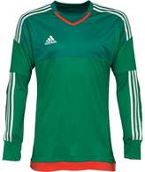 adidas Mens 3 Stripe Top 15 ClimaCool Padded Goalkeeper Shirt Green/White