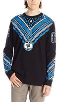 Southpole Men's Engineered Print Patterned Long Sleeve Tee with Patterns