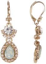 Marchesa Double Drop Stone & Crystal Earrings