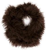 Adrienne Landau Monogolian Lamb Fur Stole