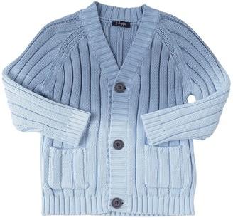 Il Gufo Gradient Cotton Rib Knit Cardigan