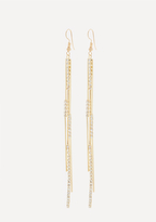 Bebe Crystal 3-Strand Earrings