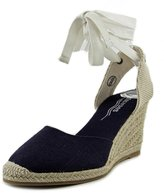 Soludos Tall Wedge Women US 7 Blue Wedge Sandal