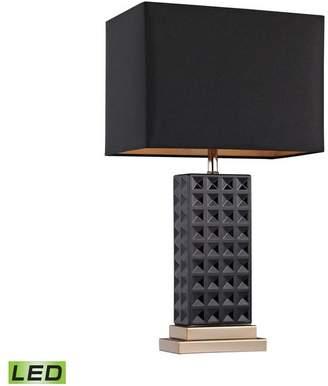 Elk Lighting Black Stud Ceramic LED Lamp
