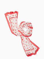 Kate Spade Tossed berry oblong scarf