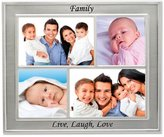 Lawrence Frames Silver Sentiments Luxury Frame, 4-Opening Family Collage
