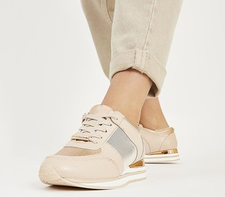 Office Follow Lace Up Runners Nude Mix