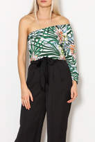 Lucca Couture Palm Print Top