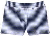 Gymboree Navy & White Stripe Knit Shorts - Girls