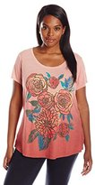 Lucky Brand Women's Plus-Size Washed Bouquet Top