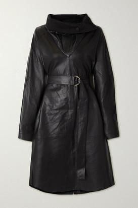 REMAIN Birger Christensen Sortie Belted Leather Dress - Black