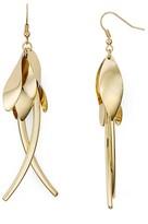 Aqua Femme Leaf Drop Earrings
