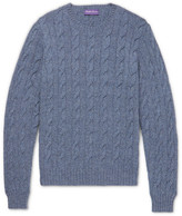 Ralph Lauren Purple Label - Mélange Cable-knit Cashmere Sweater